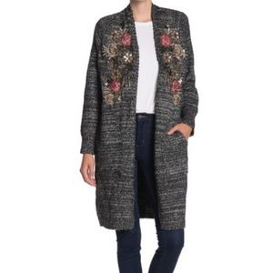 Aratta Lady May floral sequin cardigan sweater